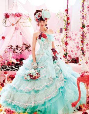 ウェディングドレス シアン