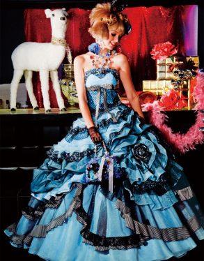 ウェディングドレス ブルー