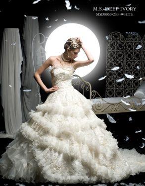 ウェディングドレス M.S DEEP IVORY オフホワイト