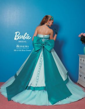 ウェディングドレス  Balie ブルーグリーン